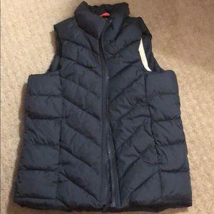 Old navy, girls, gray puffer vest, size 5